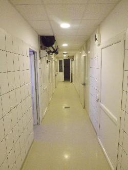 Vágópont és Húsfeldolgozóüzem folyosó