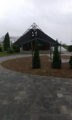 Közületi kivitelezések, temető ravatalozó felújítása