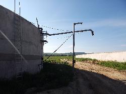 3000 köbméteres vasbeton hígtrágya körtároló szeparátorházzal