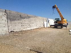 A oszlopos silófelújítás, silótér építés