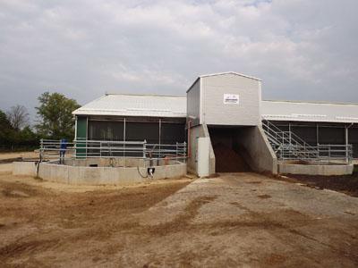 Celldömölk - Szervestrágya szeparátorház, trágyakezelés