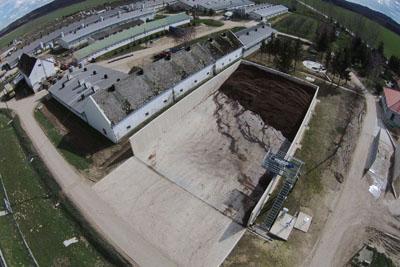 Pakod - Szervestrágya tároló szeparátorral