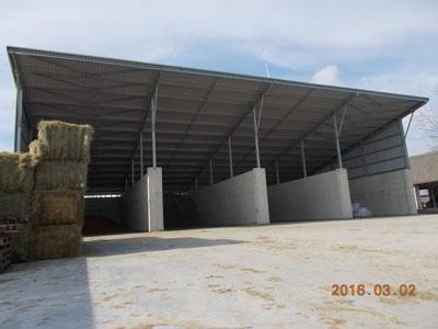 Kéthely-Sáripuszta - 2400 köbméteres alapanyagtároló, takarmánykonyha